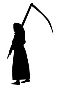 Death with a scythe: A death walking