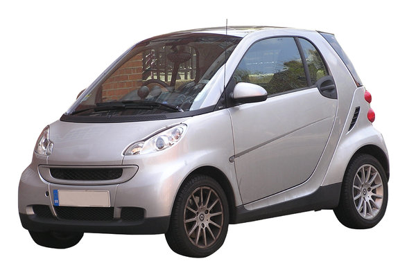 Small car: A compact city car. Very smart design!