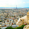 Paris view: This is a view of Paris from the top of Sacre Ceur basilica