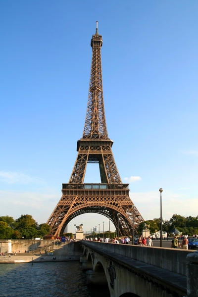 Eiffel Tower - Another View: As you can see, it's The Eiffel Tower. The shot was taken in Paris in September of 2006.