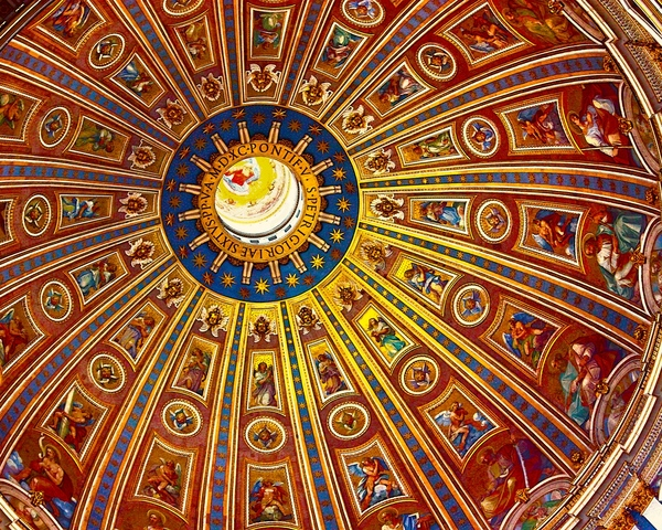 St.Paul's dome: This is the dome of St.Paul's cathedral from the inside, Rome, Italy, summer 2009