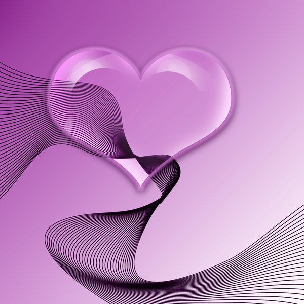 purple heart: glass heart