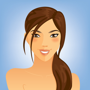 Brunette Woman Portrait: Beautiful Brunette Woman Portrait