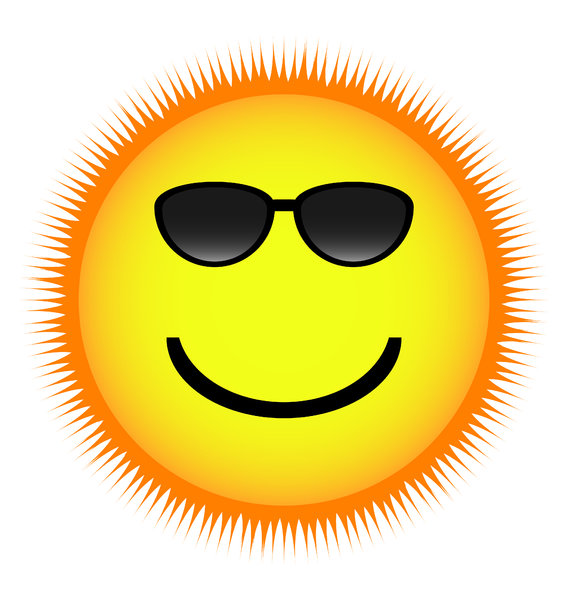Smile Mr. Sun!: Let the Sun (with his hot shades) smile upon everyone!!!