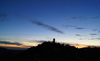 castle sunset in Austria 2: sunset at old castle in upper austria