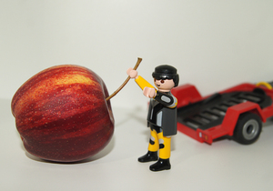 transportador de playmobil de apple: