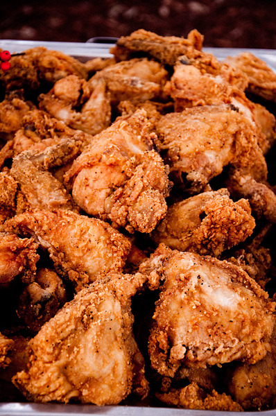 Fried Chicken: Fried in the south, eaten quickly.