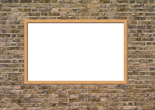 Brickwall: Brickwall with noticeboard