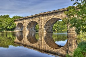 aquaduct: hdr image of the aquaduct across the river luner lune Lancaster
