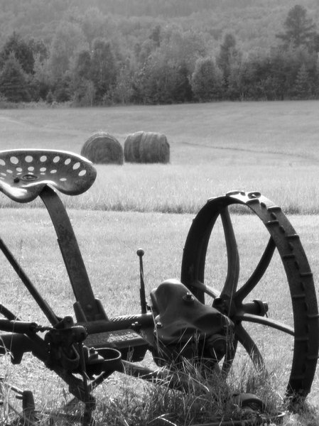 Old farm machinery: Shot taken in Arundel, Quebec, Canada