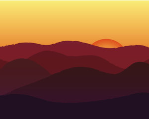 Sunset: A virtual and very much stylized sunset...