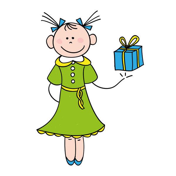 Нарисовать подарок девочке 19