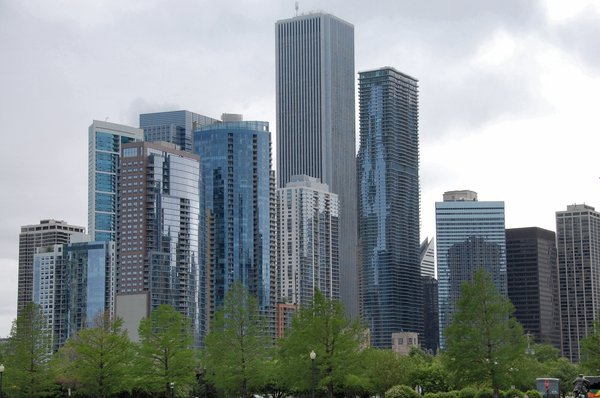 Skyscrapers: Part of the Chicago skyline