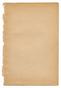 Vintage Paper: Vintage paper isolated on a white background.