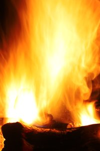 Burning Campfire: Long exposure burning campfire.