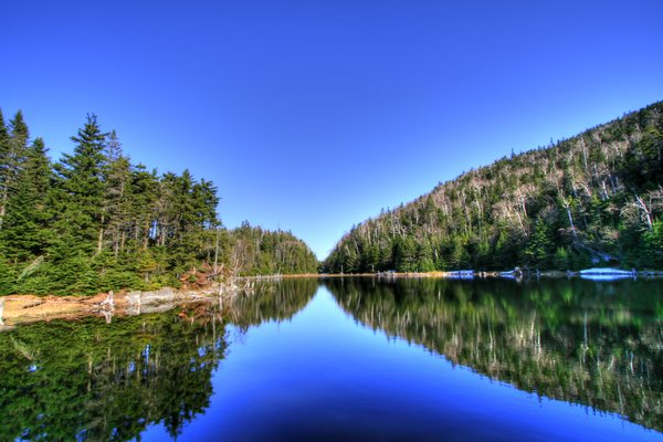 Lac Spruce - HDR: Wide-angle scenery of Lac Spruce in Sutton, Quebec Canada. HDR composite from multiple exposures.