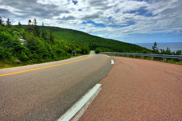 Cabot Trail Scenic Route - HDR: Scenic route from the Cabot Trail in Cape Breton, Nova Scotia (Canada). HDR composite from multiple exposures.