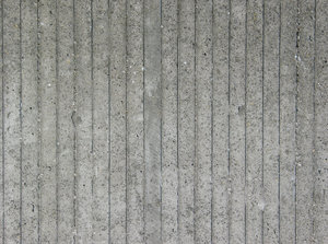 striped concrete wall 2: Just an ugly but useful concrete wall, casted in a wood form, therefore a vertical stripe pattern.