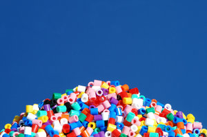 Pile of plastic beads: Pile of plastic beads