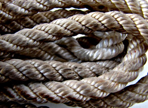 in a twist - cord: bundle of dirty used cord