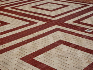 paving patterns15: pavement area with patterned surfaces