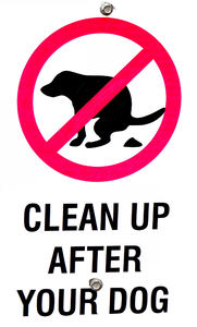 keep things clean: dog owner's clean up rules