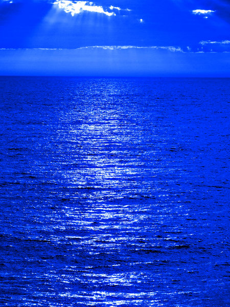 Shapes Blue Moon Ocean Reflection Abstract Backgrounds Textures Patterns Geometric