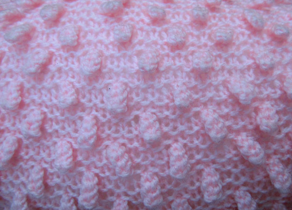 crocheted pink: pink crocheted bolster pillow