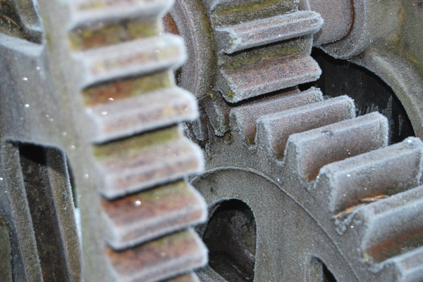 Gears: Hoar frosted gears of ancient winch