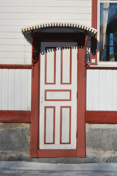 Wooden Door: Door of ancient wooden house