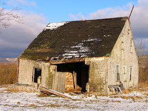 Better Days: Old house in Pereaux, Nova Scotia, Canada