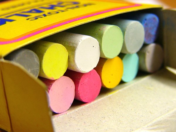Rainbow in a Box: colored chalk