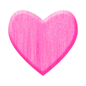 Pink Wooden Heart: A heart of wood.