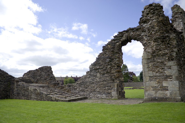 Sawley Abbey: The ruins of Sawley Abbey, Lancashire.  Founded by the Cistercian Monks, with the assistance of William de Percy, in 1147 and continued functioning until it's dissolution in 1536,