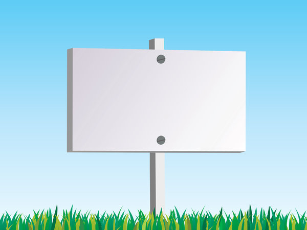 Blank Sign: