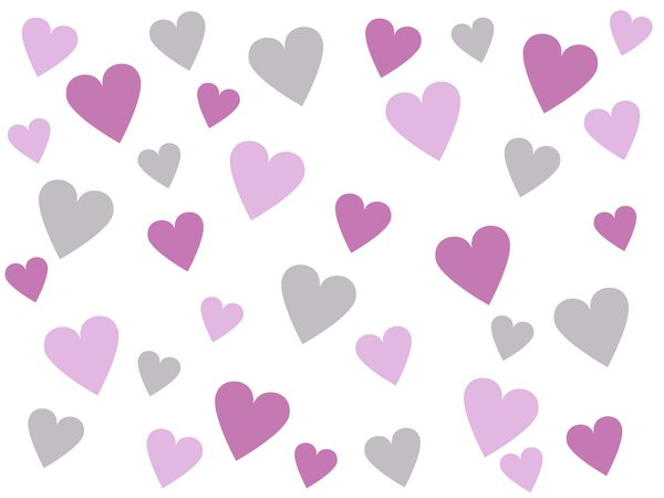 Pastel Hearts: A pastel hearts background.