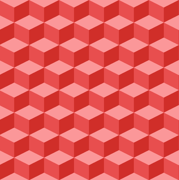 Tumbling Blocks 2: Seamless tumbling blocks background.  Optical illusion illustration.