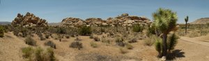 Panorama Joshua Tree Nat. Park: This panorama picture of 'Hall of Horrors' rock formation at Joshua Tree National Park in California was composed out of seven free hand pictures using 'autostitch'. Not a bad result I would suggest.