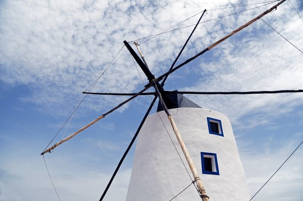 Sail Windmill: Traditional Portuguese sail windmill