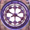 Gothic Window Round: A 3D fantasy gothic styled window in royal shades. Can be used as a frame as well.