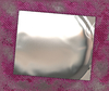Polished Metal Plate Texture: A polished metal plate on a textured background. Useful banner or background.