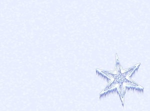 Icy Snowflake 3: Snowflake or star against a plain or snowy background. Plenty of copyspace.