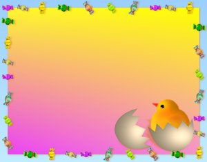 Easter Background 3: Pretty Easter background for children in bright primary colours.