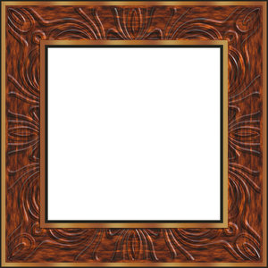 Carved Frame: A beautifully carved timber and gold picture frame.