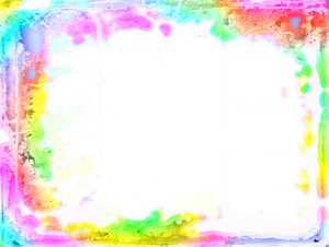 Girly Grunge Frame 1: A rainbow coloured girly grunge frame on a white background. You may prefer:  http://www.rgbstock.com/photo/2dyWkKP/Girly+Grunge  or:  http://www.rgbstock.com/photo/dKTw1g/Layered+Abstract+Frame