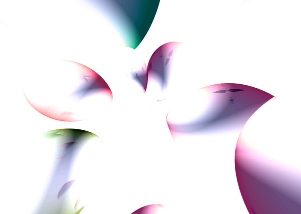 Floral Abstract Shapes: Abstract design of coloured shapes against a plain background.