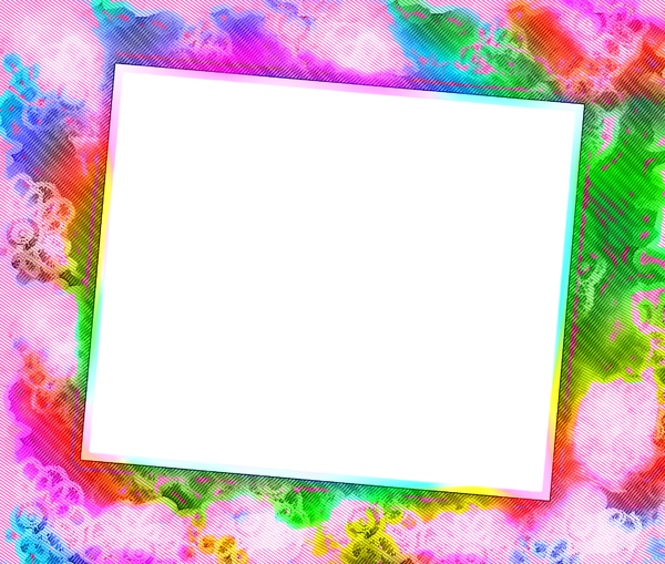 You're Invited 7: Blank notecard in vivid rainbow shades suitable for an invitation, banner, birthday, congratulations - many uses. White blank area against a textured coloured background. Alternative - http://www.rgbstock.com/photo/mQufuc4/You%27re+invited+6