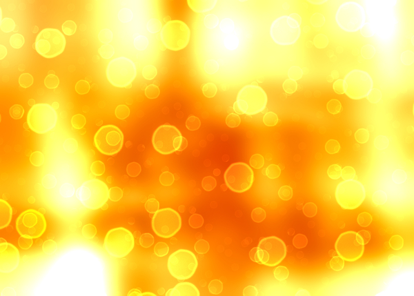 Bokeh or Blurred Lights 3: Bokeh, or blurred background lights in yellow, orange and white. Suitable for a background, Christmas greetings, holiday greetings, texture, or fill.