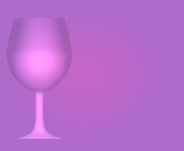 Wineglass Border 3: A pink and purple backdrop with a wineglass outline on one side.