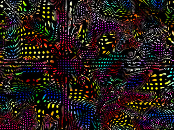 Coloured Warp: Bright and colourful 3D warp effect. Great texture, fill or background.